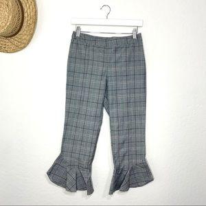 Ro&de Plaid Capri Dress Pants